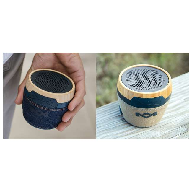 EM-JA007-DN House of Marley Chant Mini Bluetooth Portable Audio Speaker (2 Pack) 3