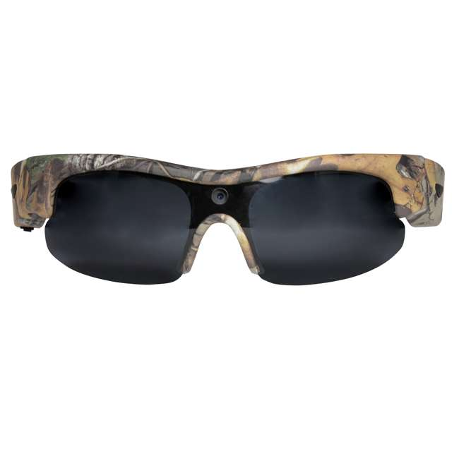 MCG-13039 Moultrie Hunting Fishing Camo Glasses w/ Built-in Video Camera | MCA-13039 1