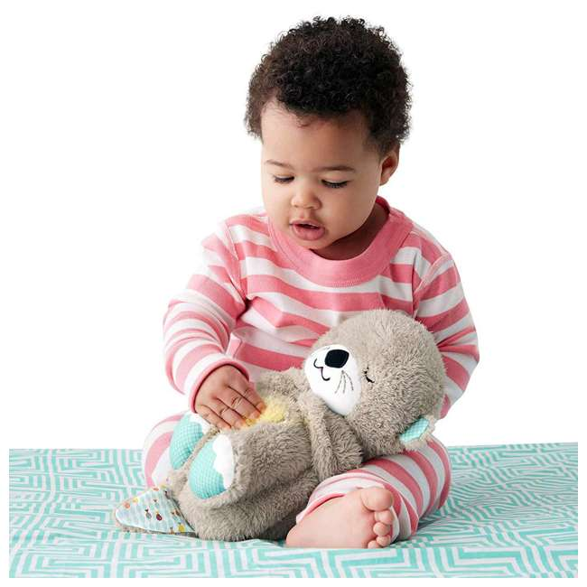 FXC66 Fisher Price FXC66 Infant Baby Plush Bedtime Musical Soothe 'n Snuggle Otter 1