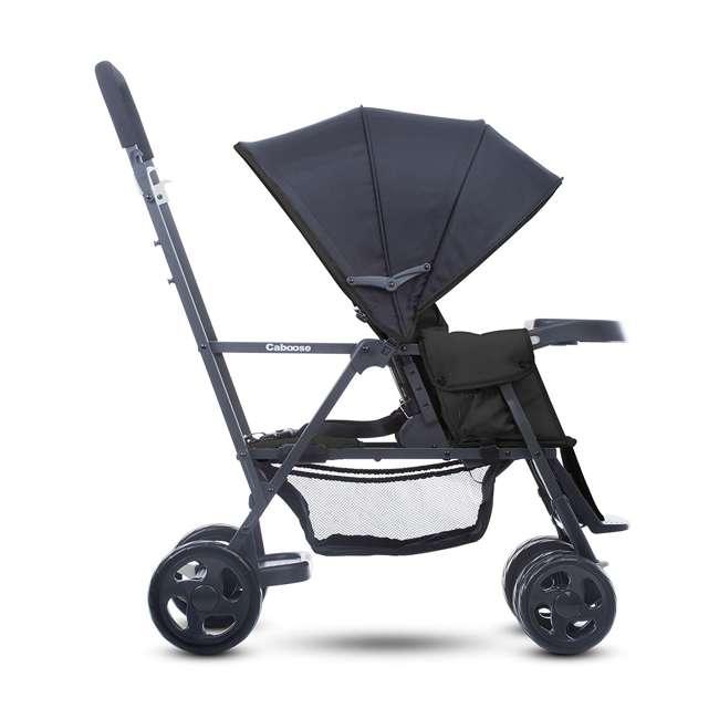 JVY-8147 Joovy Caboose Graphite Convertible Tandem Double Stroller, Black 2