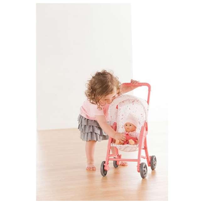 100130 + FRN90 Corolle Mon Premier Baby Bath Waterproof Coralie Doll with Duck & Toy Stroller 7