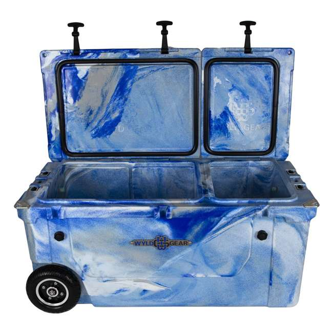 HC75-17M WYLD 75 Quart Pioneer Dual Compartment Insulated Cooler w/ Wheels, Marine Blue