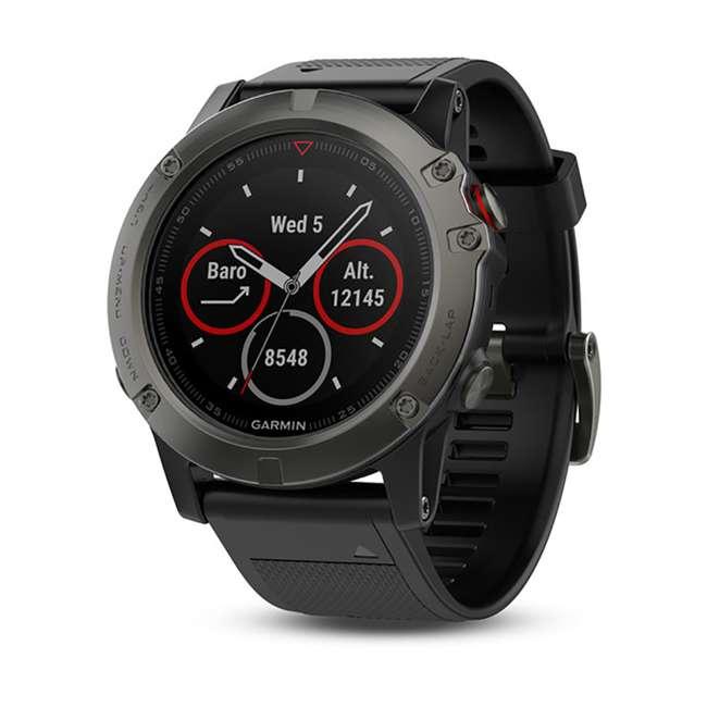 010-01733-00 Garmin Fenix 5X Multi-Sport 64 MB Smart Watch, Gray