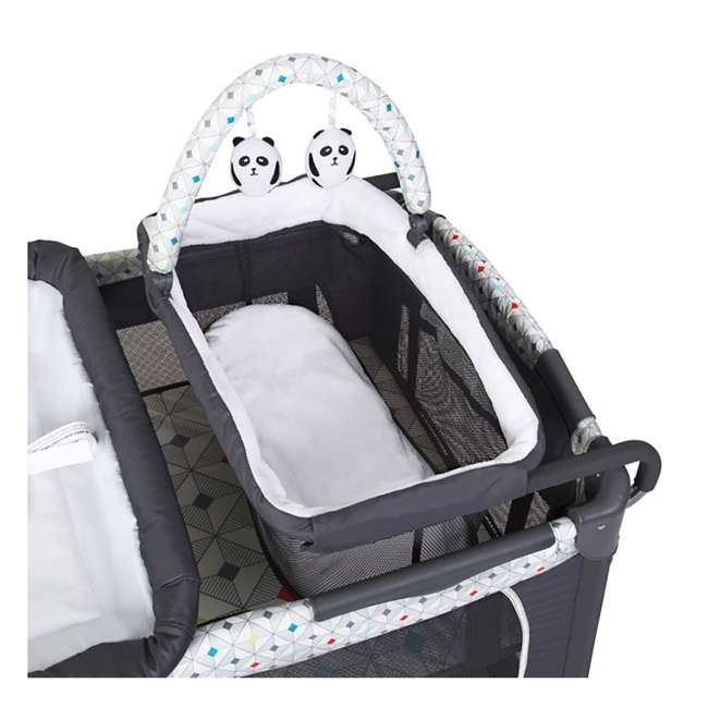 PY81A81I Baby Trend Lil Snooze Deluxe Nursery Center with Changing Table, Diamond Geo 4