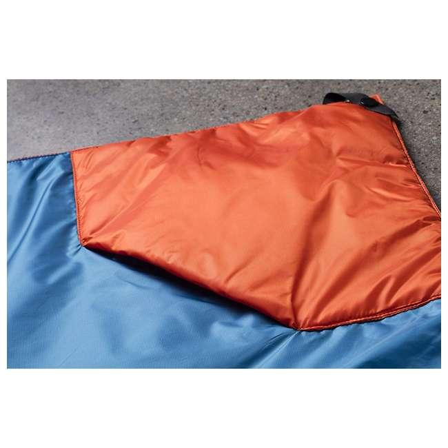 "13VBOR01C Klymit Versa 58 x 80"" Lightweight Polyester Camping Blanket & Comforter, Red 4"