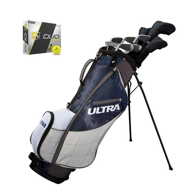 WGGC4360L + WGWP40150 Wilson Ultra Men's Left-Handed Complete Golf Club Set & Balls