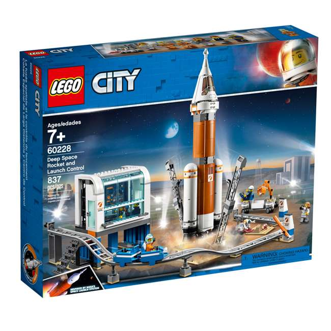 6251727 LEGO City Deep Space Rocket & Launch Control 837 Piece Building Set w/ 6 Minifig 5