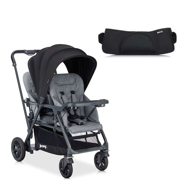 8219 + 9111 Joovy Caboose Double Sit and Stand Stroller & Caboose Washable Organizer