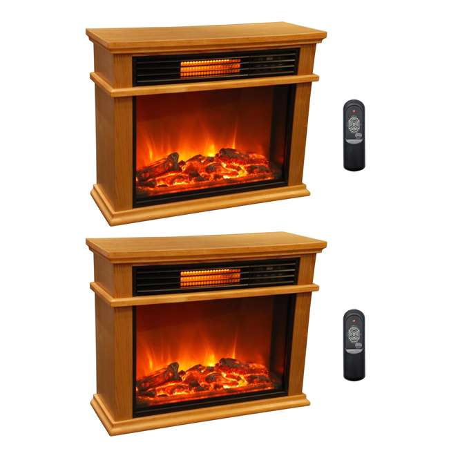 Lifesmart Lifepro Infrared Fireplace Heaters Pair Ls 2003frp13 In