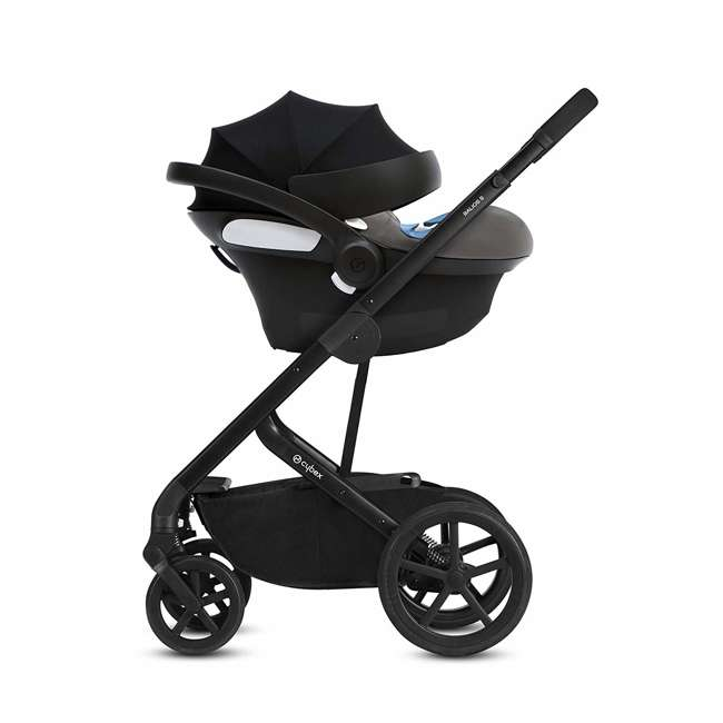 518002097 Cybex Aton M Portable Newborn Infant Baby Car Seat & SafeLock Base, Pepper Black 5