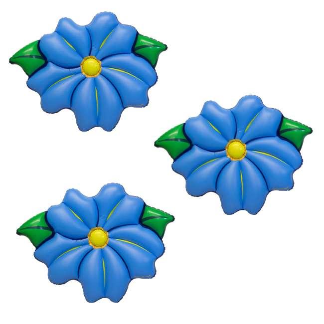 "3 x SL-90560M Swimline 75"" Inflatable Primrose Flower Relaxation Lounge Float, Blue (3 Pack)"