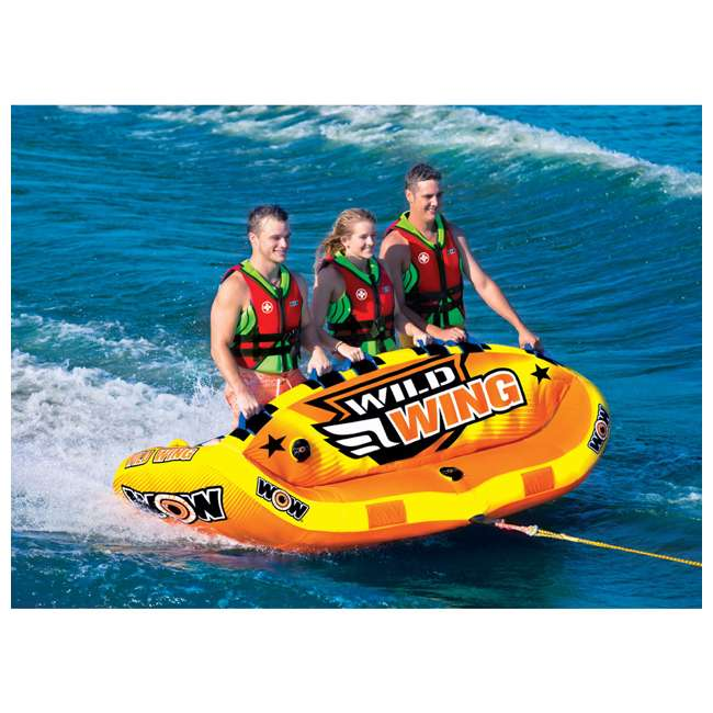 18-1130 World of Watersports Wild Wing 2 Rider Inflatable Tube 3