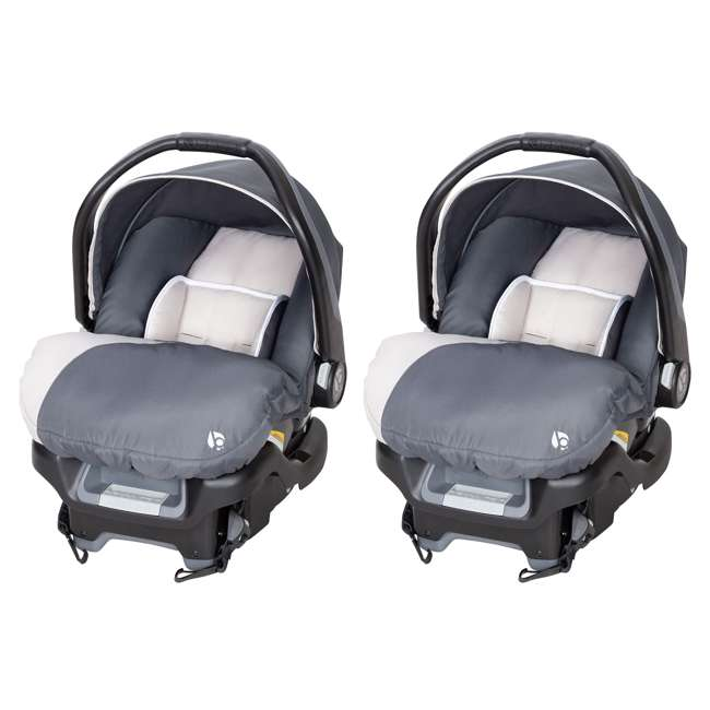 CS79C81A Baby Trend Ally Adjustable 35 Pound Infant Baby Car Seat and Base (2 Pack)