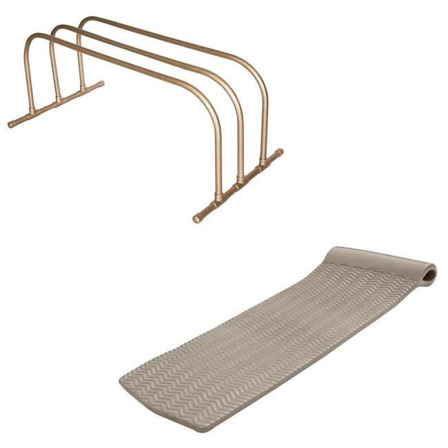 8080218 + 8070018 TRC Recreation PVC Pool Float Storage Drying Rack w/ Lounger