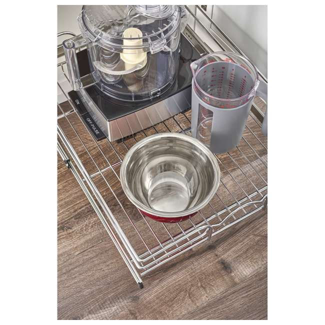 """5WB1-1520CR-1 Rev-A-Shelf 5WB1-1520CR-1 15"""" x 20"""" Single Kitchen Cabinet Pull Out Wire Basket 4"""