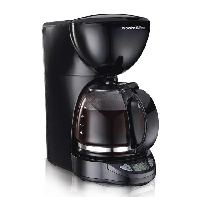 49758A Proctor Silex 12-Cup Coffee Maker, Black