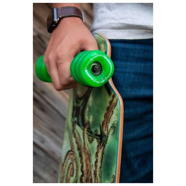 1001S60MMS78AG-U-A Shark Wheel California Roll 60mm 78A Skateboard Wheels, Green (Open Box) 2
