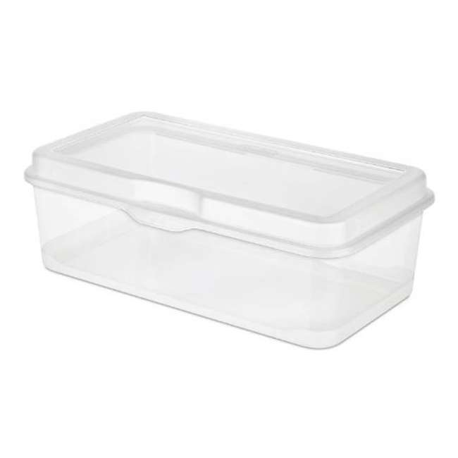 30 x 18058606-U-A Sterilite Plastic Latching Storage Box Container Clear (Open Box) (30 Pack)
