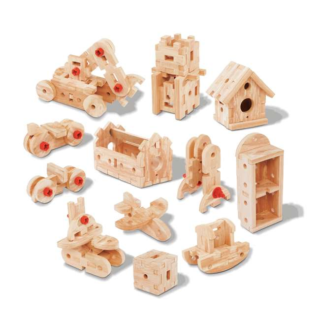 762700-U-A Step2 Pretend Play Toy Wood Working Tools Real Projects Workbench (Open Box) 3