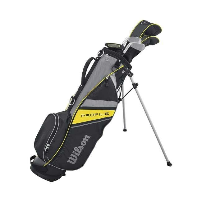 WGGC6122L Wilson Profile Complete Junior Left Hand Golf Set, Yellow 1