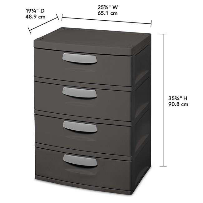 6 x 01743V01 Sterilite 4-Drawer Storage Unit (6 Pack) 2