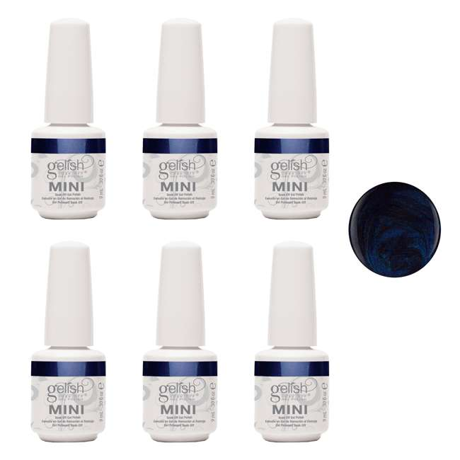 6 x 04304-Caution Gelish Mini Caution UV LED Gel Nail Polish Bottle, 0.3 oz (6 Pack)