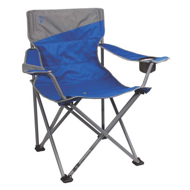 2000026491 Coleman Big-N-Tall Oversized Quad Chair, Blue