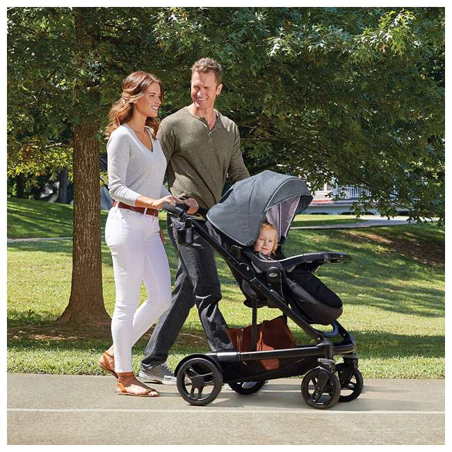 2032495 Graco UNO2DUO Baby Single Double Stroller & Infant Car Seat Travel System, Hazel 4