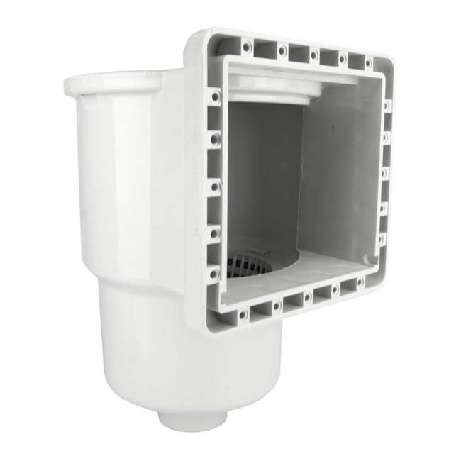 8940-U-B Hydrotools Standard ABS Thru-Wall Pool Skimmer (Used) (2 Pack)