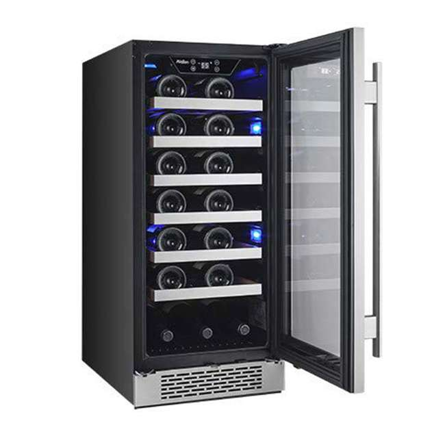 AWC151SZLH + AWC151SZRH Avallon 15 Inch Left & Right 27 Bottle Dual Zone Wine Cooler, Stainless Steel 6