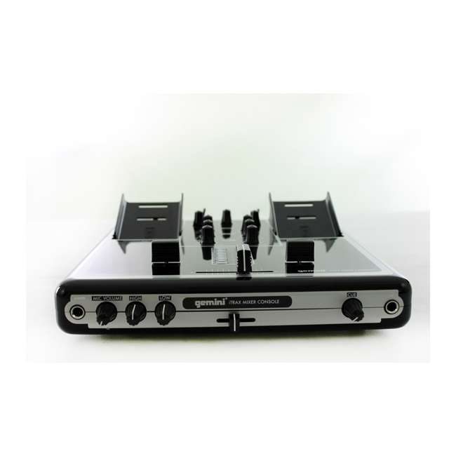 ITRAX-BLK Gemini iTRAX Dual iPod 2-Channel Mixer Console with USB | ITRAX-BLK 5