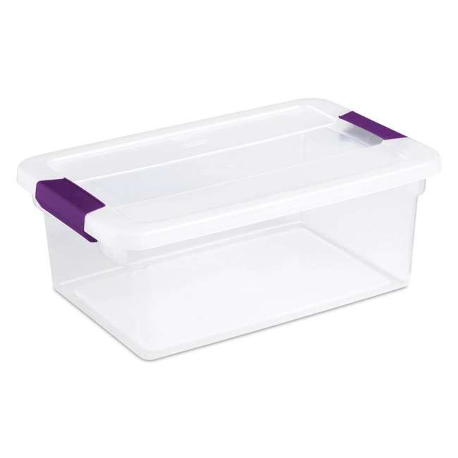 36 x 17531712-U-A Sterilite 15-Quart ClearView Latch Storage Tote Container (Open Box) (36 Pack) 6