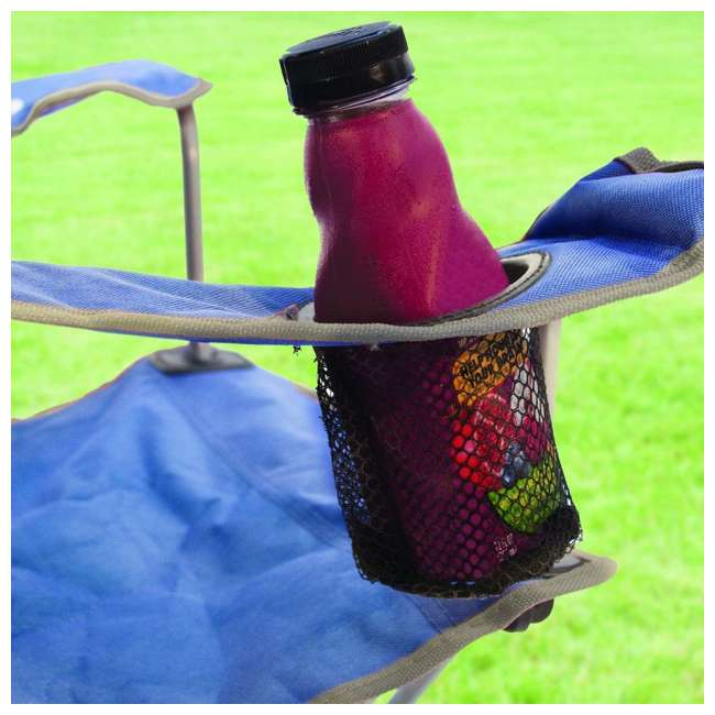 Groovy Kelsyus Kids Original Canopy Folding Backpack Chair 2 Pack Blue Customarchery Wood Chair Design Ideas Customarcherynet