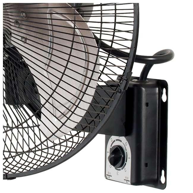 Wall Mount Air Ventilator : Active air heavy duty inch metal wall mount fan acfw hdb