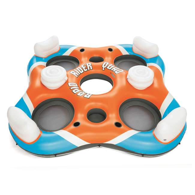 43115E-BW-U-A Bestway 101-Inch Rapid Rider 4-Person Floating Raft w/ Coolers(Open Box)(2 Pack)