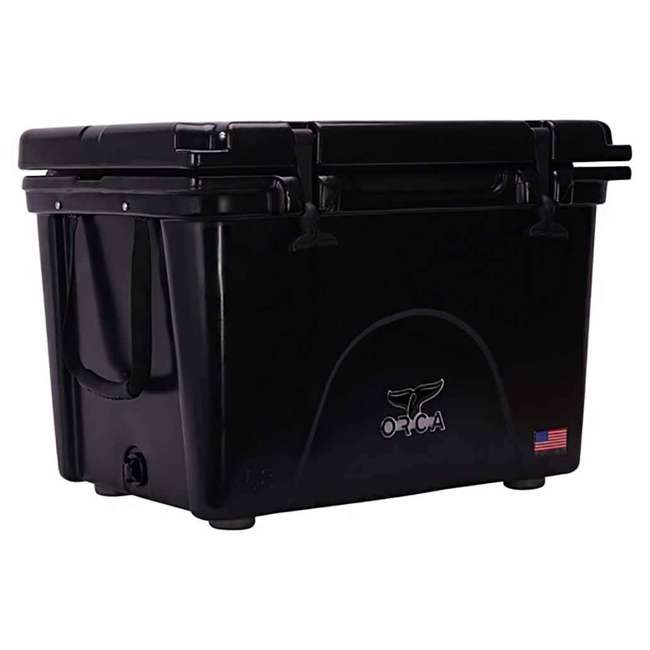 ORCBK058 Orca ORCBK058 58 Quart 72 Can Roto Molded Insulated Outdoor Ice Cooler, Black 1
