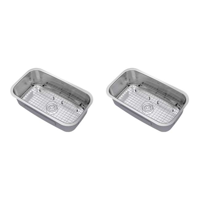 KBU14 Kraus 31-Inch Rounded Undermount Stainless Steel Kitchen Sink (2 Pack)