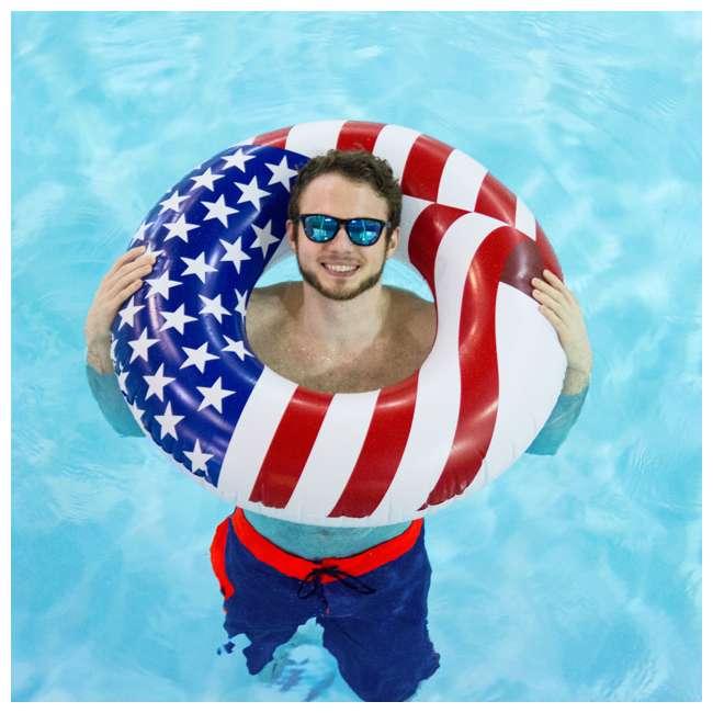 12 x 90196 Swimline 36 Inch Inflatable American Flag Swimming Pool Tube Float (12 Pack) 5