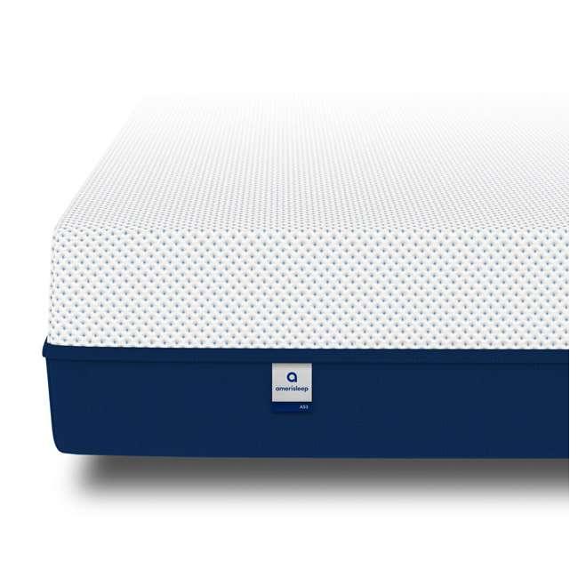 AS3-F Amerisleep AS3 Medium Softness Bio Core Plush Foam Full Size Mattress, White 2
