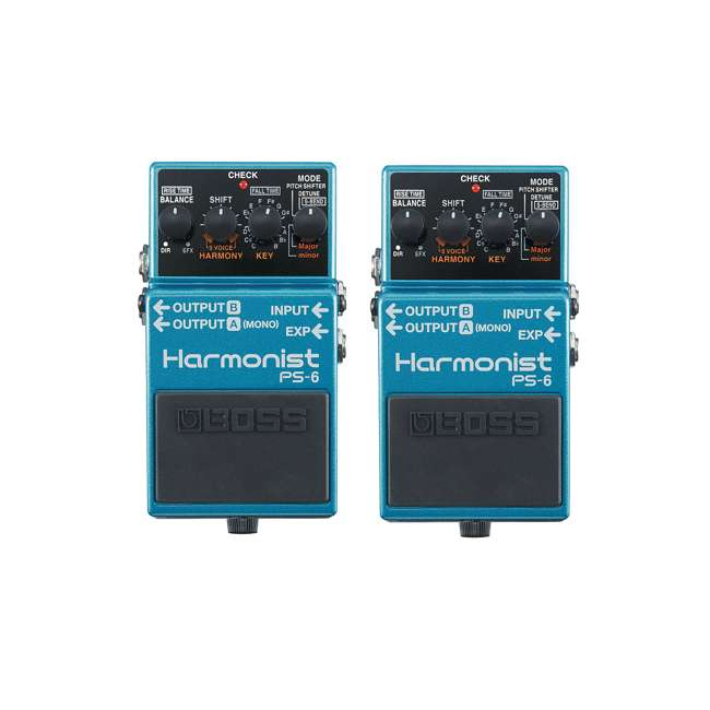 PS-6 Boss PS-6 Pitch Single Effect Harmonist Pedal Guitar Stompbox (2 Pack)