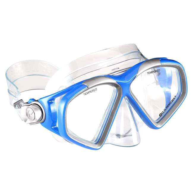 SR259O4015ML-U-A U.S. Divers Adult M/L Snorkeling Mask, Snorkel, Fins Set w/ Bag, Blue (Open Box) 2