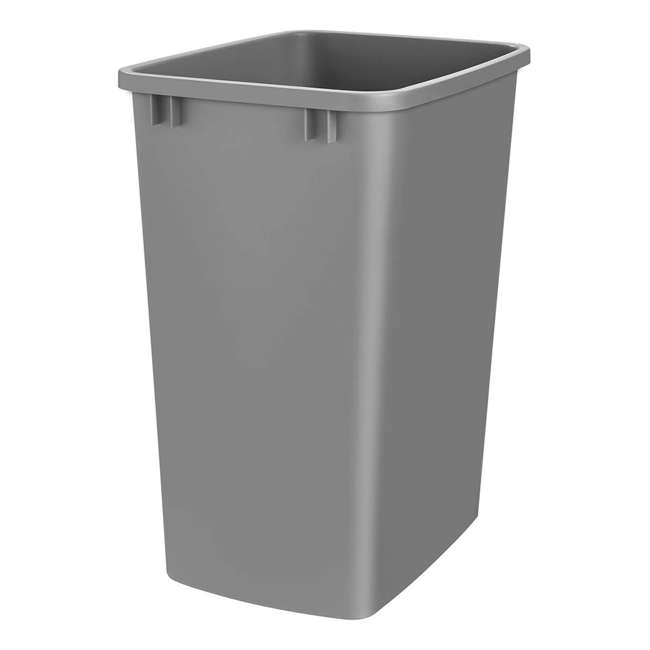 RV-35-17-52 Rev-A-Shelf RV-35-17-52 35 Quart Plastic Replacement Waste Container, Metal Gray