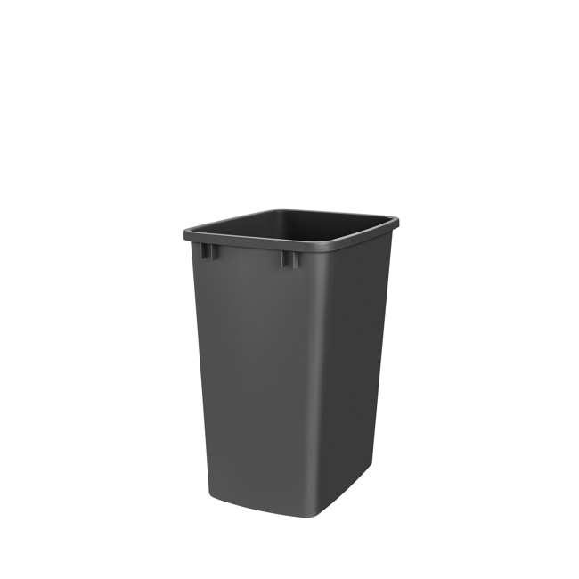 RV-35-18-52 Rev-A-Shelf RV-35-18-52 35 Quart Plastic Replacement Waste Container, Black