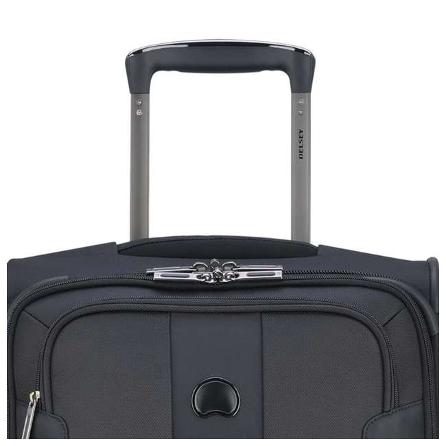 "40328272000 DELSEY Paris 21"" Expandable 2 Wheel Spinner Carry On Travel Luggage Case, Black 4"