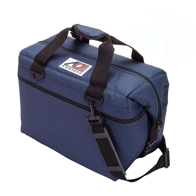 AO36NB AO Coolers Original 36 Can Soft Side Cooler w/ High Density Insulation, Navy