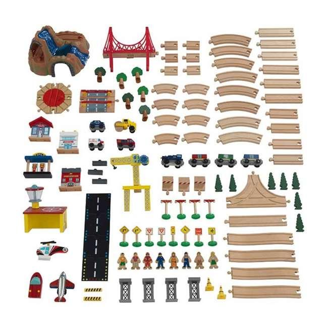 KDK-18025-U-A KidKraft Adventure Town Railway Play Set & Table w/ EZ Kraft Assembly (Open Box) 2