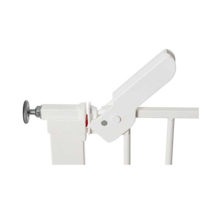 """BBD-60114-5492 + BBD-58014-5400 BabyDan Premier 28.9-36.7 Inch Baby Gate & Extend A 2 x 2.6"""" Gate Kit, White 5"""