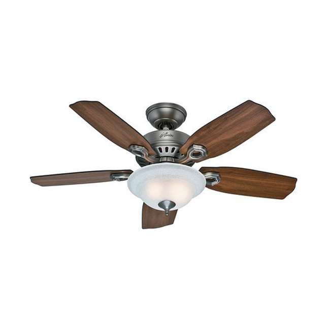 52036 Hunter 52036 Auberville 44 Inch 5 Blade Antique Style Ceiling Fan, Mahogany