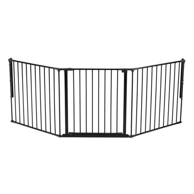 BBD-56226-10600 BabyDan Flex 35.4-87.8 Large Size Metal Safety Baby Gate & Room Divider, Black
