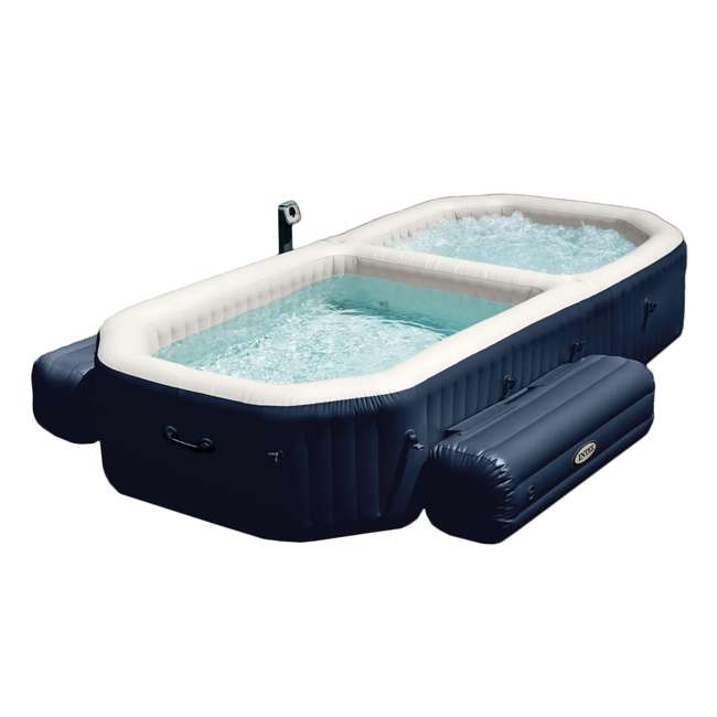 Intex purespa inflatable bubble hot tub and pool set 28491e for Piscinas rectangulares desmontables decathlon